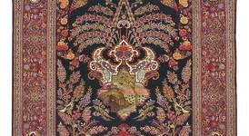 Kaschan alt mit Seide, Persien